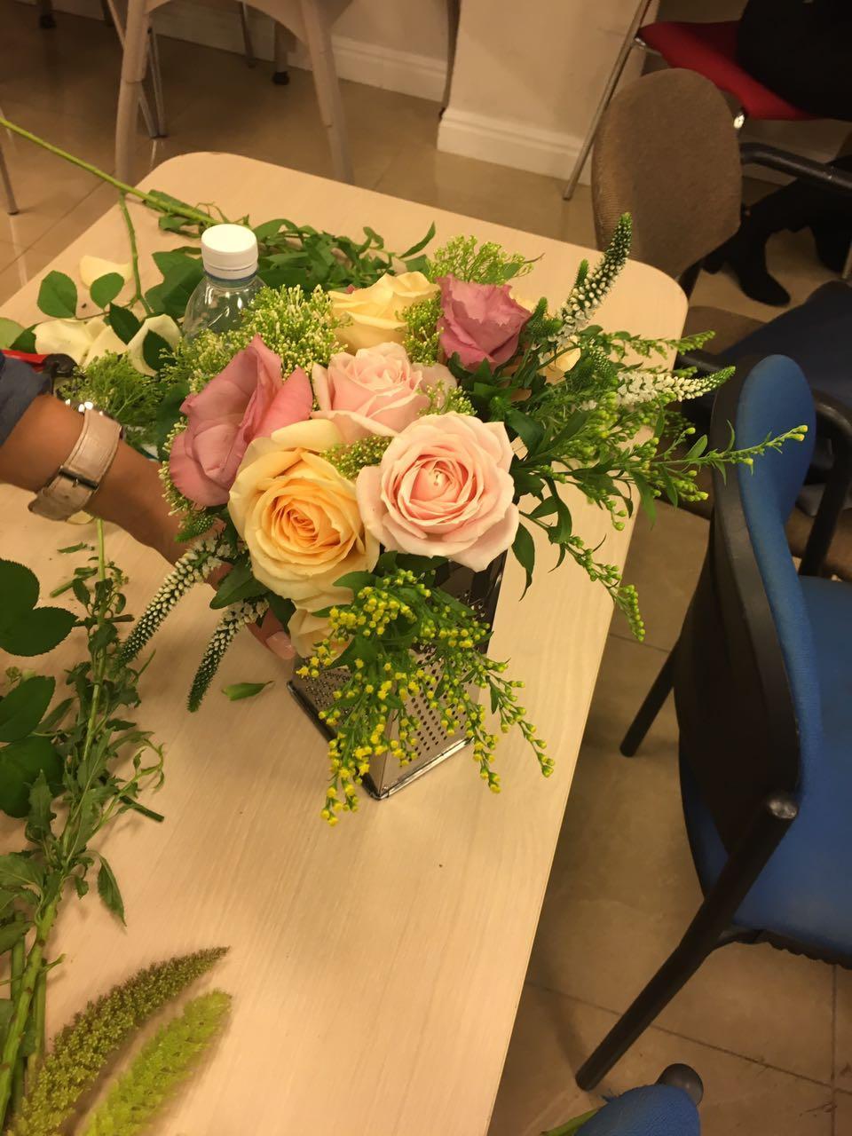 גלרייה - שזירת פרחים - קורס עיצוב ניהול והפקת אירועים מחזור 15, 3 מתוך 22
