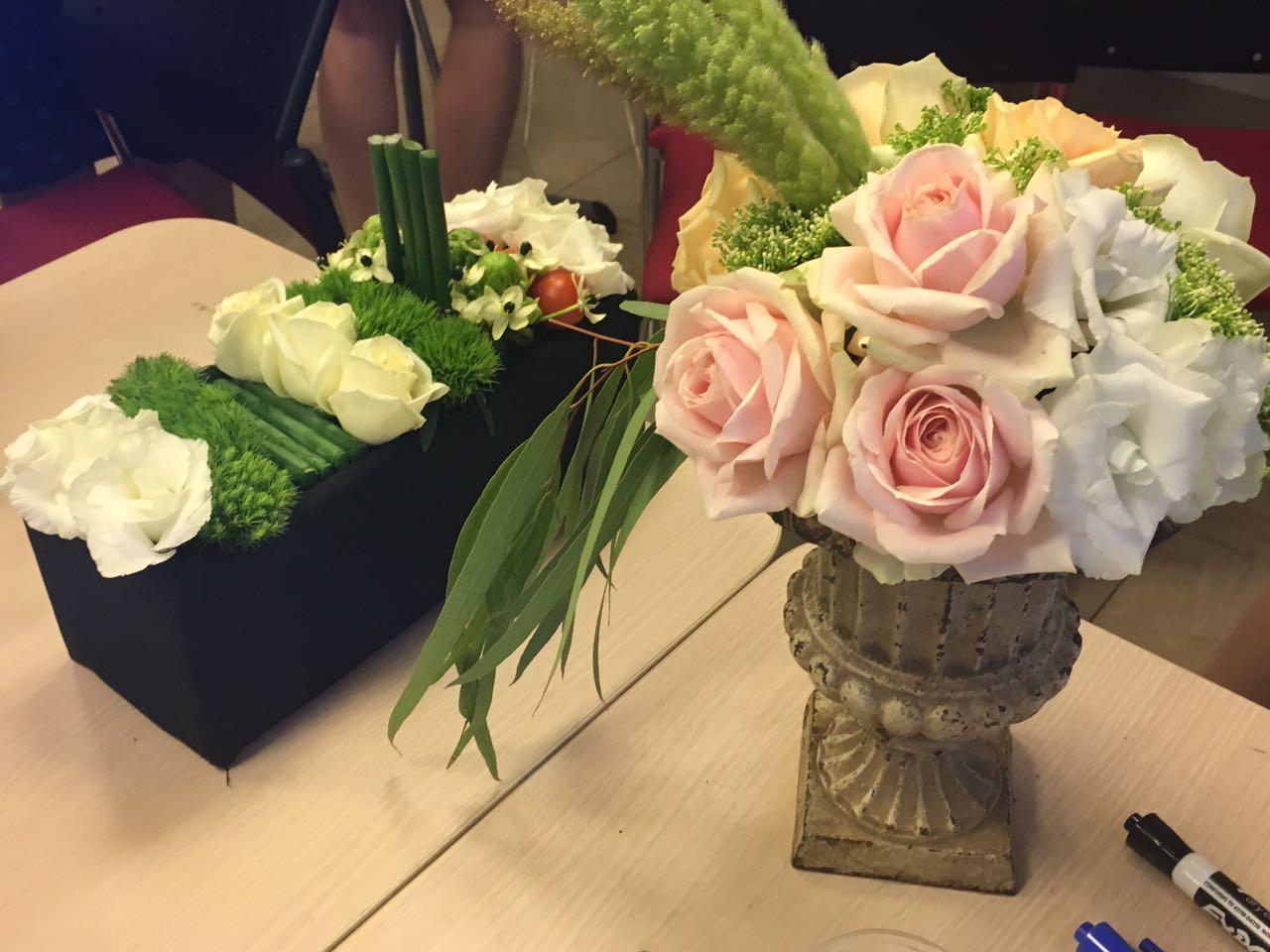 גלרייה - שזירת פרחים - קורס עיצוב ניהול והפקת אירועים מחזור 15, 15 מתוך 22